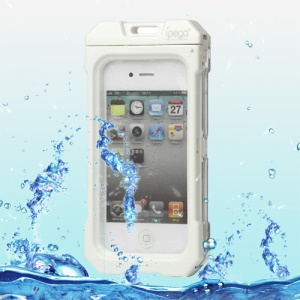 Waterproof Hard Plastic Case Cover for iPhone 4 4S - White