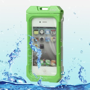 Waterproof Hard Plastic Case Cover for iPhone 4 4S - Green