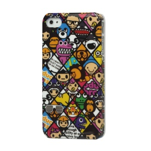 Numerous Cartoon Image Hard Case for iPhone 4 4S