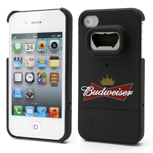 Snap-on Bottle Opener Budweiser Beer Hard Back Case for iPhone 4 4S
