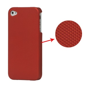 Dream Mesh Hard Plastic Case Cover for iPhone 4 4S - Red