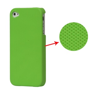 Dream Mesh Hard Plastic Case Cover for iPhone 4 4S - Dark Green