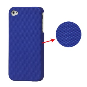 Dream Mesh Hard Plastic Case Cover for iPhone 4 4S - Dark Blue