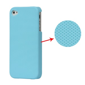 Dream Mesh Hard Plastic Case Cover for iPhone 4 4S - Baby Blue