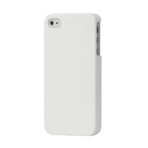 Rubberized Hard Case Cover for iPhone 4 4S - White
