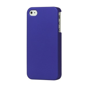 Rubberized Hard Case Cover for iPhone 4 4S - Dark Blue