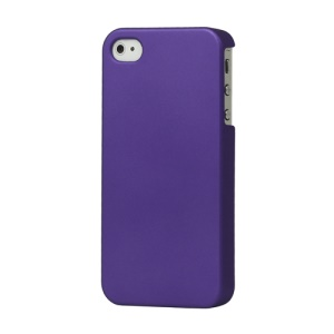 Rubberized Hard Case Cover for iPhone 4 4S - Purple