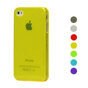 Cheap For iPhone 4 4S Hard Cover Case;Transparent