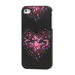 Rhinestone Heart Plastic Case Cover for iPhone 4 4S