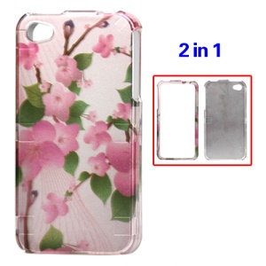 Detachable Peach Blossom Hard Case for iPhone 4 4S