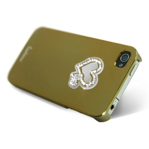 Eileen Hearts Lime Series Electroplating Diamante Case for iPhone 4 4S - Gold