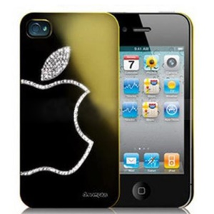Sparkling Diamond Electroplating Case for iPhone 4 4S - Gold