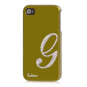 Eileen Lowercase G-Lime Series Electroplating Diamante Case for iPhone 4 4S - Gold