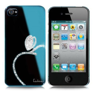 Eileen Brandy Lime Series Swarovski Rhinestone Case for iPhone 4 4S - Capri Blue
