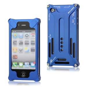 Transformer Metal Bumper Case for iPhone 4 4S - Dark Blue