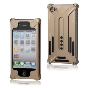 Transformer Metal Bumper Case for iPhone 4 4S - Brown