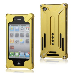 Transformer Metal Bumper Case for iPhone 4 4S - Gold