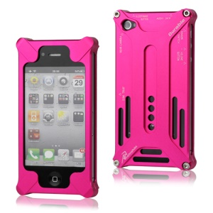 Transformer Metal Bumper Case for iPhone 4 4S - Rose