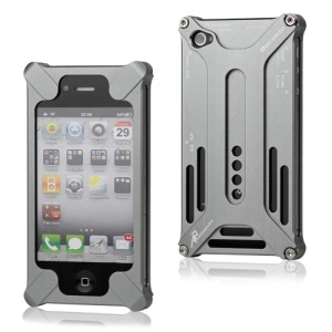 Transformer Metal Bumper Case for iPhone 4 4S - Grey