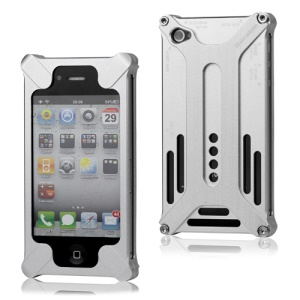 Transformer Metal Bumper Case for iPhone 4 4S - Silver