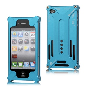 Transformer Metal Bumper Case for iPhone 4 4S - Baby Blue