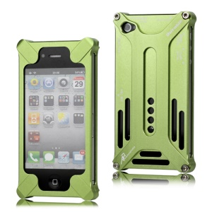 Transformer Metal Bumper Case for iPhone 4 4S - Green