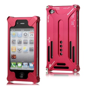 Transformer Metal Bumper Case for iPhone 4 4S - Red