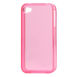 Glossy TPU Gel Case for iPhone 4 4S - Translucent Pink