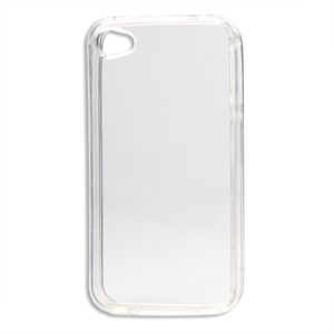 Glossy TPU Gel Case for iPhone 4 4S - Transparent