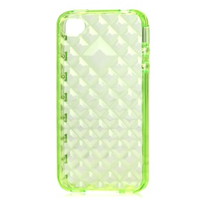 Water Cube TPU Gel Case for iPhone 4 4S - Translucent Green