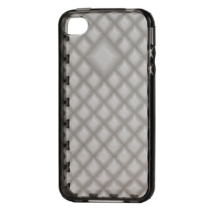 Water Cube TPU Gel Case for iPhone 4 4S - Translucent Grey
