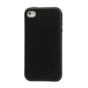 Lustrous TPU Case for iPhone 4 CDMA iPhone 4S - Black