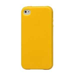 Lustrous TPU Case for iPhone 4 CDMA iPhone 4S - Yellow