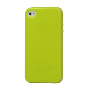 Lustrous TPU Case for iPhone 4 CDMA iPhone 4S - Green