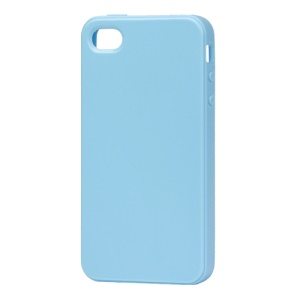 Lustrous TPU Case for iPhone 4 CDMA iPhone 4S - Light Blue