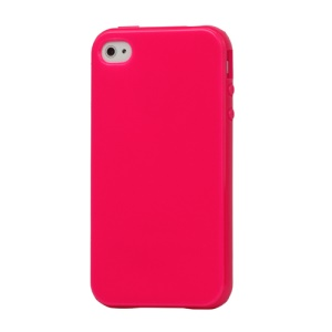 Lustrous TPU Case for iPhone 4 CDMA iPhone 4S - Rose