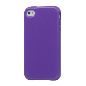 Lustrous TPU Case for iPhone 4 CDMA iPhone 4S - Purple