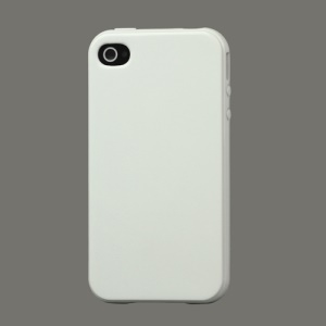 Lustrous TPU Case for iPhone 4 CDMA iPhone 4S - White