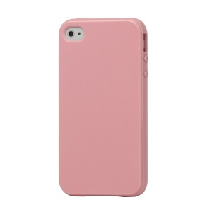 Lustrous TPU Case for iPhone 4 CDMA iPhone 4S - Pink