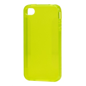 Stylish Blade TPU Case for iPhone 4 4S - Yellow
