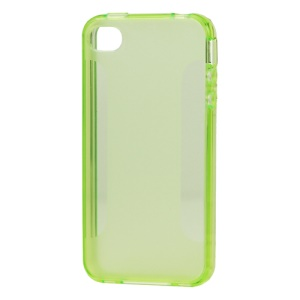 Stylish Blade TPU Case for iPhone 4 4S - Green