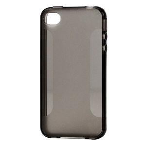 Stylish Blade TPU Case for iPhone 4 4S - Grey