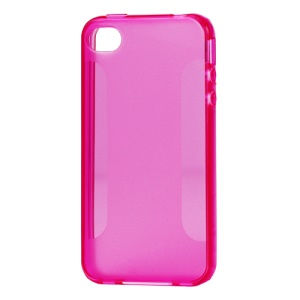 Stylish Blade TPU Case for iPhone 4 4S - Rose