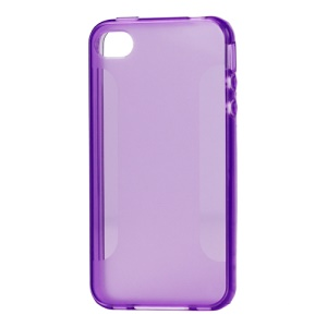Stylish Blade TPU Case for iPhone 4 4S - Purple