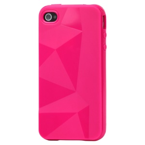 Stylish Three-dimensional TPU Gel Case for iPhone 4 4S - Rose