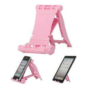 Portable Multi-angled Stand Holder for The New iPad iPhone 4S iPod Touch HTC One X - Pink