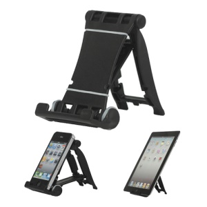 Portable Multi-angled Stand Holder for The New iPad iPhone 4S iPod Touch HTC One X - Black