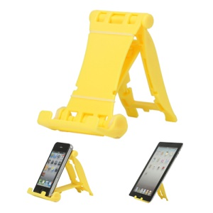 Portable Multi-angled Stand Holder for The New iPad iPhone 4S iPod Touch HTC One X - Yellow