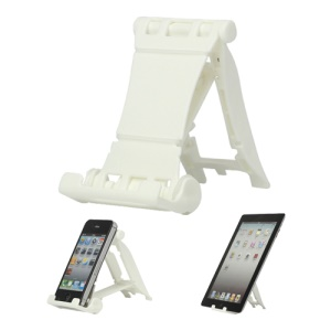 Portable Multi-angled Stand Holder for The New iPad iPhone 4S iPod Touch HTC One X - White