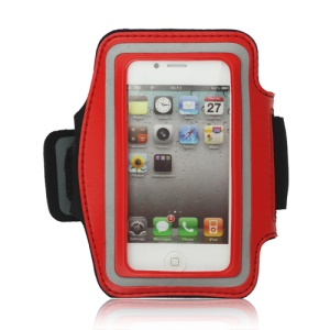 Gym Running Sport Armband Case for iPhone 4 4S - Red